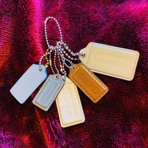 Coach Lot of 5 Dog Tags/ Keychains